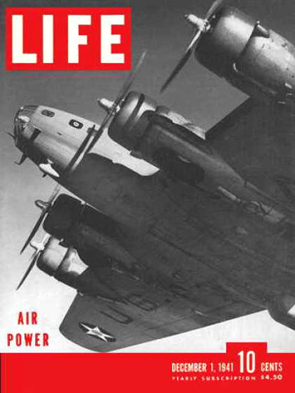Life Magazine Cover Copyright 1941 US Air Force Air Power | Vintage Ad and Cover Art 1891-1970