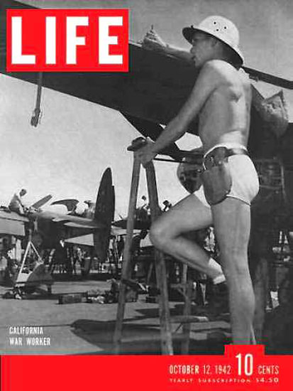 Life Magazine Cover Copyright 1942 California War Work | Vintage Ad and Cover Art 1891-1970
