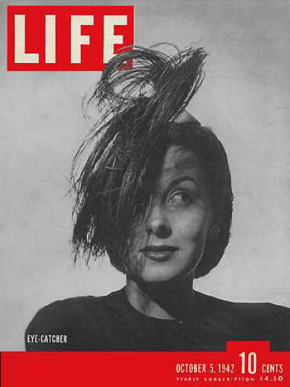 Life Magazine Cover Copyright 1942 Eye-Catcher Hats | Vintage Ad and Cover Art 1891-1970