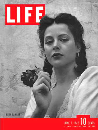 Life Magazine Cover Copyright 1942 Hedy Lamarr | Sex Appeal Vintage Ads and Covers 1891-1970