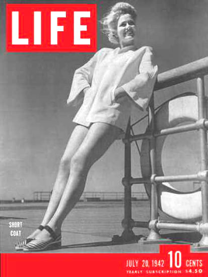 Life Magazine Cover Copyright 1942 Short Coats | Sex Appeal Vintage Ads and Covers 1891-1970