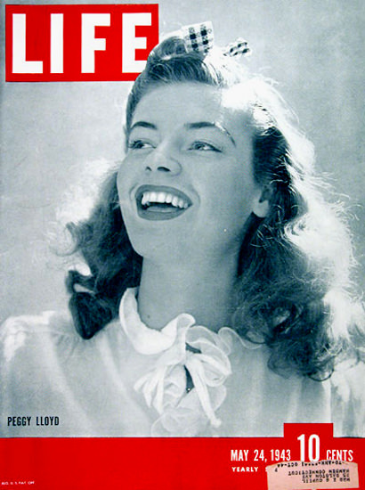 Life Magazine Cover Copyright 1943 Peggy Lloyd   Sex Appeal Vintage Ads and Covers 1891-1970