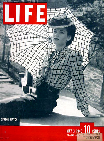 Life Magazine Cover Copyright 1943 Spring Match | Sex Appeal Vintage Ads and Covers 1891-1970