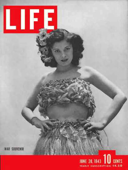 Life Magazine Cover Copyright 1943 War Souvenir | Vintage Ad and Cover Art 1891-1970