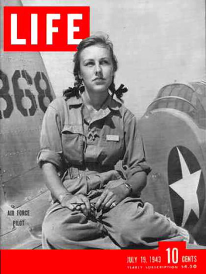 Life Magazine Cover Copyright 1943 Women Air Force Pilots | Vintage Ad and Cover Art 1891-1970