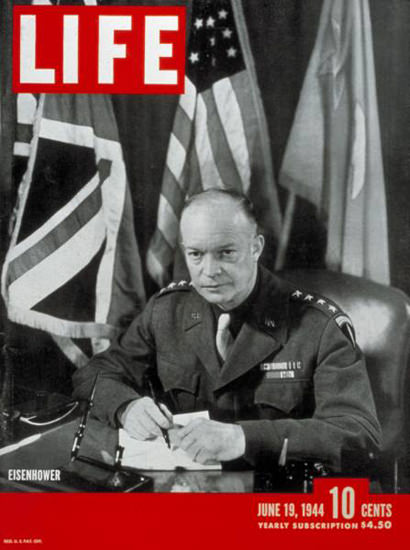 Life Magazine Cover Copyright 1944 Eisenhower | Vintage Ad and Cover Art 1891-1970