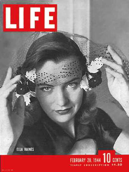 Life Magazine Cover Copyright 1944 Ella Raines | Sex Appeal Vintage Ads and Covers 1891-1970