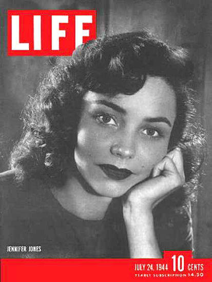 Life Magazine Cover Copyright 1944 Jennifer Jones | Sex Appeal Vintage Ads and Covers 1891-1970