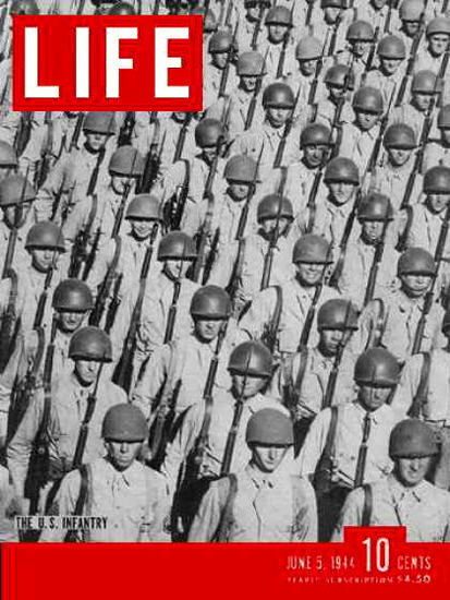 Life Magazine Cover Copyright 1944 US Infantry | Vintage Ad and Cover Art 1891-1970