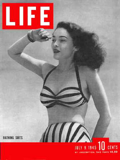 Life Magazine Cover Copyright 1945 30 years of swimsuits | Sex Appeal Vintage Ads and Covers 1891-1970