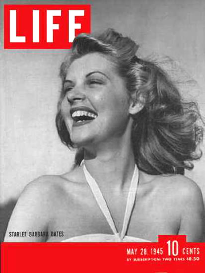 Life Magazine Cover Copyright 1945 Barbara Bates | Sex Appeal Vintage Ads and Covers 1891-1970