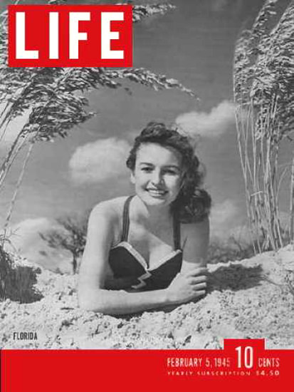 Life Magazine Cover Copyright 1945 Florida Fashions | Sex Appeal Vintage Ads and Covers 1891-1970