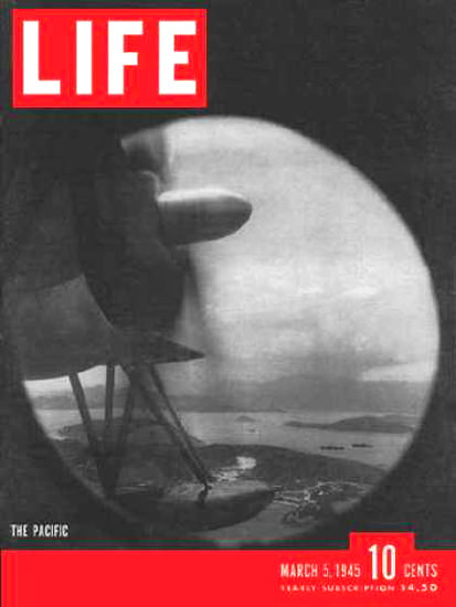 Life Magazine Cover Copyright 1945 Over The Pacific | Vintage Ad and Cover Art 1891-1970