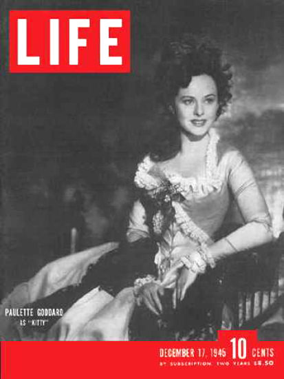 Life Magazine Cover Copyright 1945 Paulette Goddard | Sex Appeal Vintage Ads and Covers 1891-1970