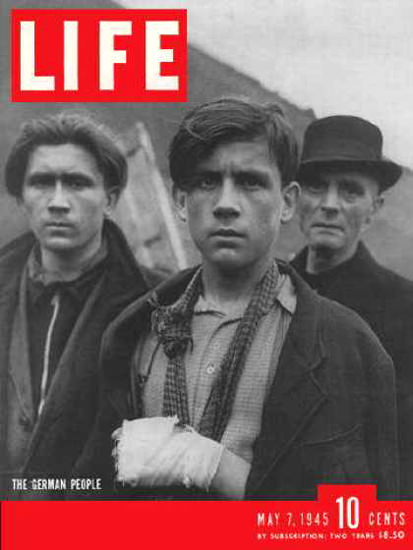 Life Magazine Cover Copyright 1945 The German People | Vintage Ad and Cover Art 1891-1970