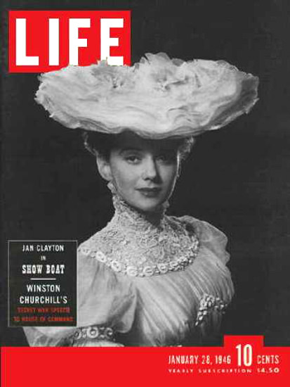 Life Magazine Cover Copyright 1946 Jan Clayton Show Boat | Sex Appeal Vintage Ads and Covers 1891-1970