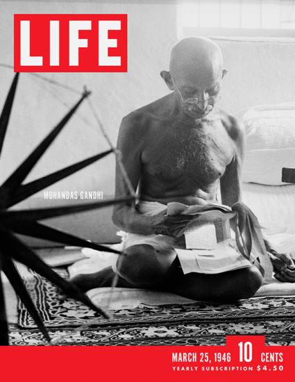 Life Magazine Cover Copyright 1946 Mohandas Gandhi | Vintage Ad and Cover Art 1891-1970