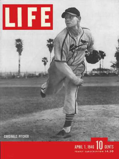 Life Magazine Cover Copyright 1946 St Louis Cardinals | Vintage Ad and Cover Art 1891-1970