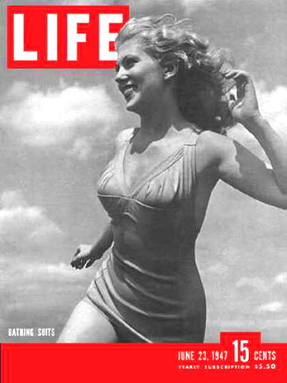 Life Magazine Cover Copyright 1947 Bathing Suits | Sex Appeal Vintage Ads and Covers 1891-1970