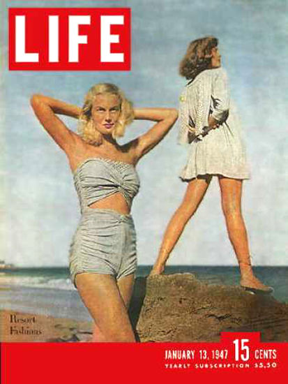 Life Magazine Cover Copyright 1947 Styles for San Juan | Sex Appeal Vintage Ads and Covers 1891-1970