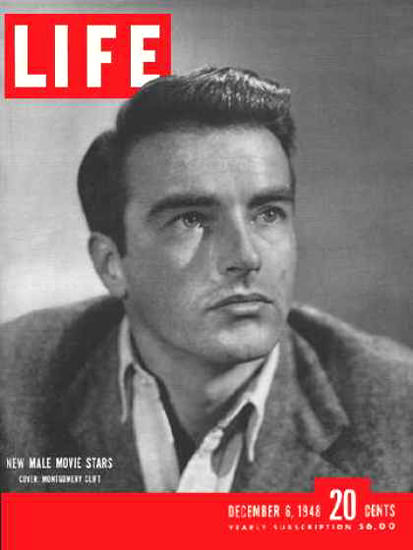 Life Magazine Cover Copyright 1948 Montgomery Clift | Sex Appeal Vintage Ads and Covers 1891-1970