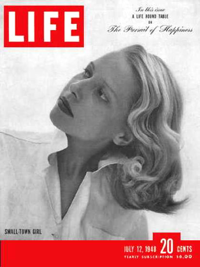 Life Magazine Cover Copyright 1948 Small Town Girl | Sex Appeal Vintage Ads and Covers 1891-1970