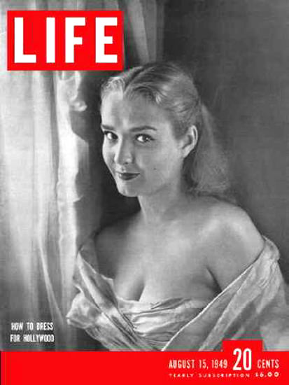 Life Magazine Cover Copyright 1949 Actress Bryn Noring | Sex Appeal Vintage Ads and Covers 1891-1970