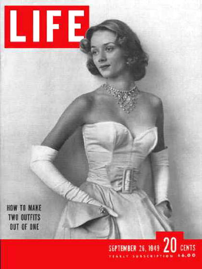 Life Magazine Cover Copyright 1949 Separates Outfit | Sex Appeal Vintage Ads and Covers 1891-1970