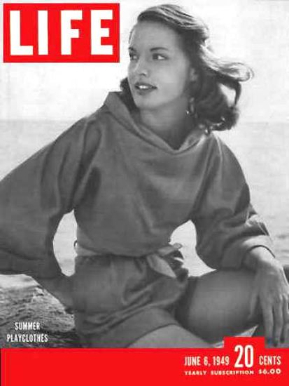 Life Magazine Cover Copyright 1949 Shorts And Tops | Sex Appeal Vintage Ads and Covers 1891-1970