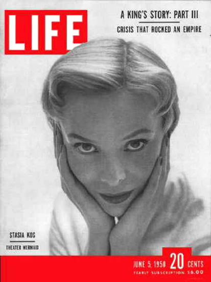 Life Magazine Cover Copyright 1950 Actress Stasia Kos | Sex Appeal Vintage Ads and Covers 1891-1970