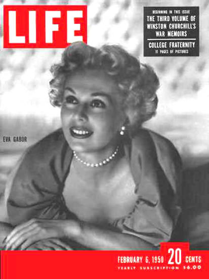 Life Magazine Cover Copyright 1950 Zsa Zsa Gabor | Sex Appeal Vintage Ads and Covers 1891-1970