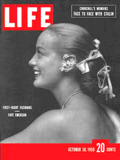 Life Magazine Cover Copyright 1950 Faye Emerson | Sex Appeal Vintage Ads and Covers 1891-1970
