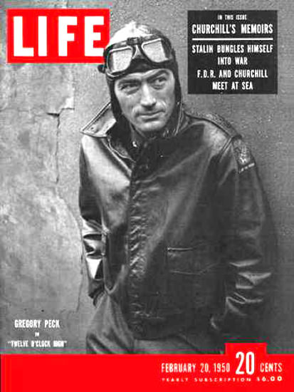 Life Magazine Cover Copyright 1950 Gregory Peck | Sex Appeal Vintage Ads and Covers 1891-1970