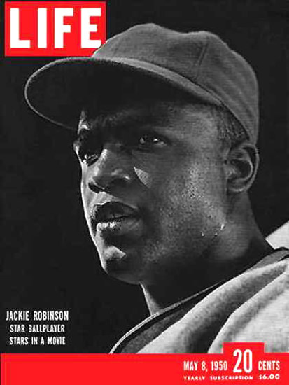 Life Magazine Cover Copyright 1950 Jackie Robinson | Vintage Ad and Cover Art 1891-1970