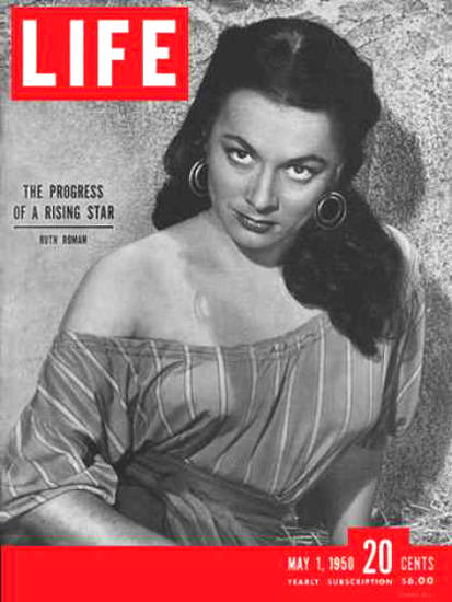 Life Magazine Cover Copyright 1950 Ruth Roman | Sex Appeal Vintage Ads and Covers 1891-1970