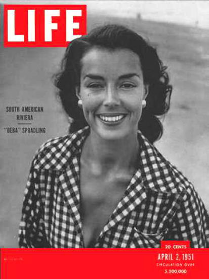 Life Magazine Cover Copyright 1951 New World Riviera | Vintage Ad and Cover Art 1891-1970