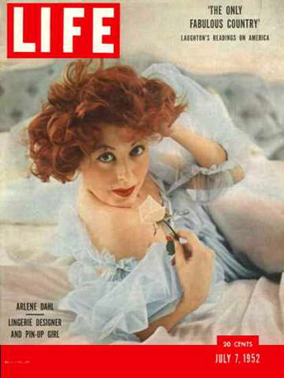 Life Magazine Cover Copyright 1952 Arlene Dahl | Sex Appeal Vintage Ads and Covers 1891-1970