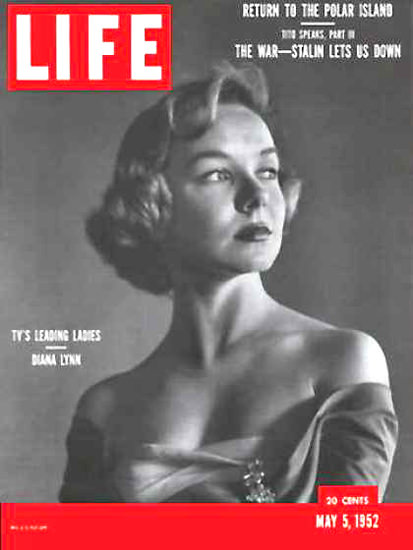Life Magazine Cover Copyright 1952 Diana Lynn | Sex Appeal Vintage Ads and Covers 1891-1970
