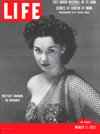 Life Magazine Cover Copyright 1952 Prettiest Show Girl | Sex Appeal Vintage Ads and Covers 1891-1970