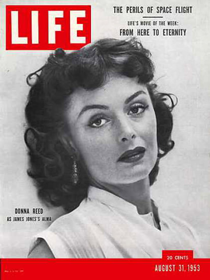 Life Magazine Cover Copyright 1953 Donna Reed | Sex Appeal Vintage Ads and Covers 1891-1970