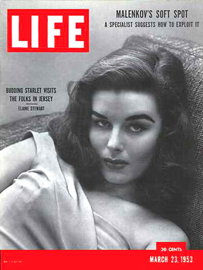 Life Magazine Cover Copyright 1953 Elaine Stewart   Sex Appeal Vintage Ads and Covers 1891-1970