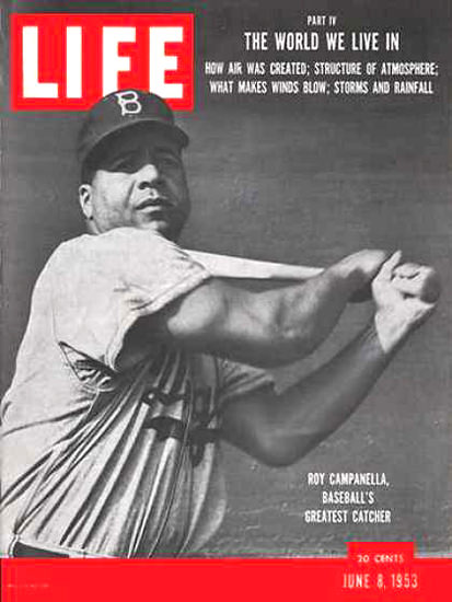 Life Magazine Cover Copyright 1953 Roy Campanella | Vintage Ad and Cover Art 1891-1970