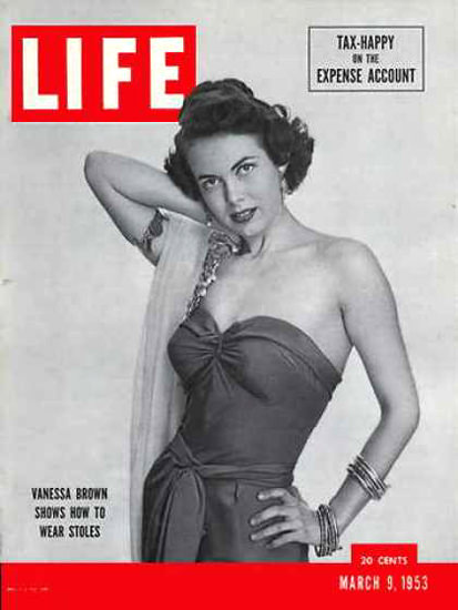 Life Magazine Cover Copyright 1953 Vanessa Brown | Sex Appeal Vintage Ads and Covers 1891-1970