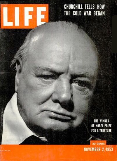 Life Magazine Cover Copyright 1953 Winston Churchill | Vintage Ad and Cover Art 1891-1970