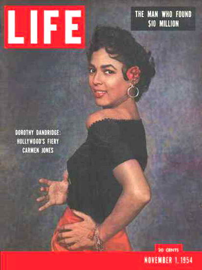 Life Magazine Cover Copyright 1954 Dorothy Dandridge | Sex Appeal Vintage Ads and Covers 1891-1970