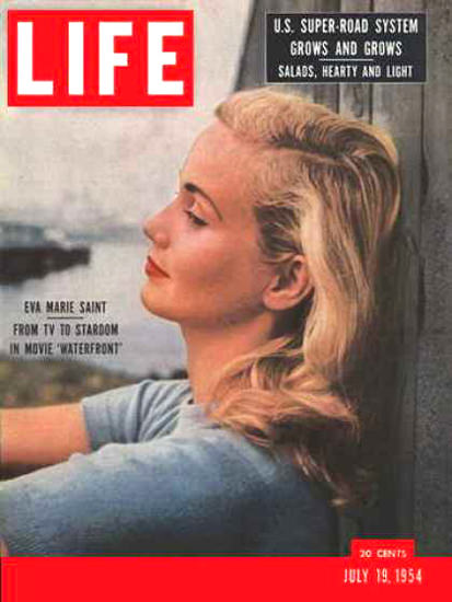 Life Magazine Cover Copyright 1954 Eva Marie Saint | Sex Appeal Vintage Ads and Covers 1891-1970