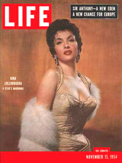 Life Magazine Cover Copyright 1954 Gina Lollobrigida | Sex Appeal Vintage Ads and Covers 1891-1970