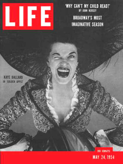 Life Magazine Cover Copyright 1954 Kaye Ballard | Sex Appeal Vintage Ads and Covers 1891-1970