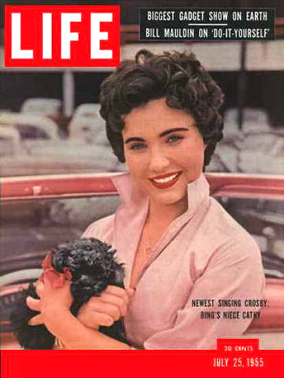 Life Magazine Cover Copyright 1955 Cathy Crosby | Sex Appeal Vintage Ads and Covers 1891-1970