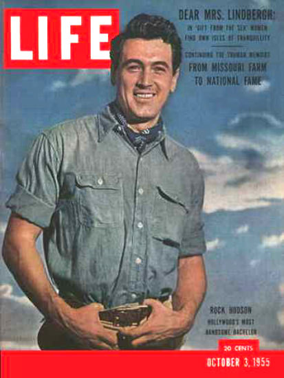 Life Magazine Cover Copyright 1955 Rock Hudson | Sex Appeal Vintage Ads and Covers 1891-1970